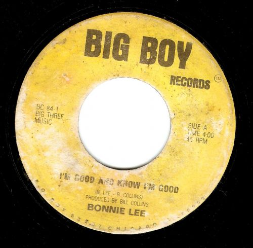 BONNIE LEE I'm Good And Know I'm Good Vinyl Record 7 Inch US Big Boy